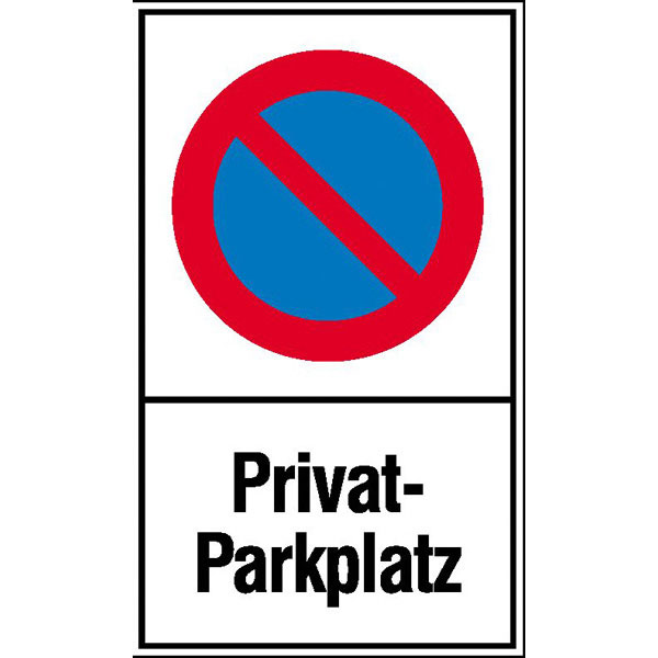 schild halteverbot privatparkplatz. Black Bedroom Furniture Sets. Home Design Ideas